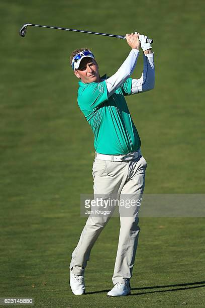 Steven Tiley of England during the third round of the European Tour qualifying school final stage at PGA Catalunya Resort on November 14 2016 in...