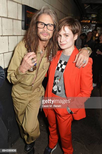 Steven Tyler and Heloise Letissier aka Christine and the Queens attend a celebration of the Stella McCartney AW17 collection and film launch at Ye...