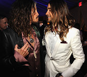 Steven Tyler and Jared Leto attend the 2014 Vanity Fair Oscar Party Hosted By Graydon Carter on March 2 2014 in West Hollywood California