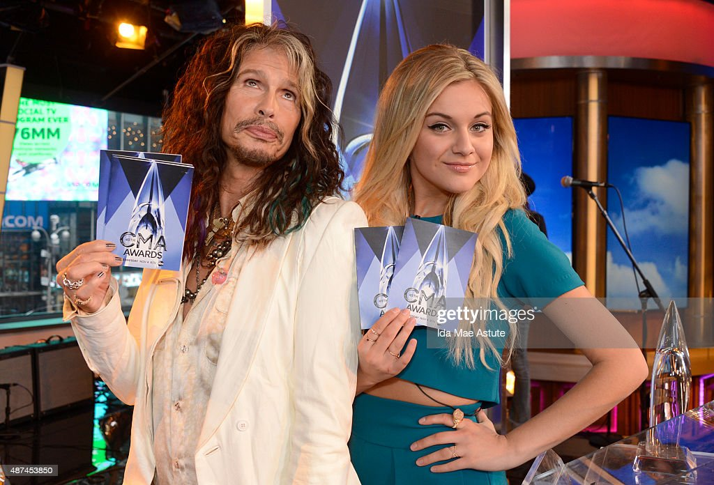 AMERICA - Steven Tyler and Kelsea Ballerini announce the CMA nominations live on GOOD MORNING AMERICA, 9/9/15, airing on the ABC Television Network.