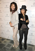 Steven Tyler and Linda Perry attend the Art of Elysium's 7th annual Heavan gala at Skirball Cultural Center on January 11 2014 in Los Angeles...
