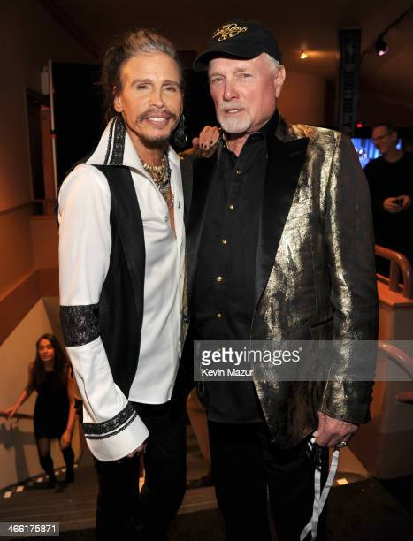 Steven Tyler and Mike Love attend 'Howard Stern's Birthday Bash' presented by SiriusXM produced by Howard Stern Productions at Hammerstein Ballroom...