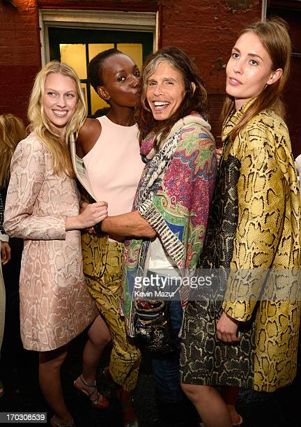 Steven Tyler and models attend the Stella McCartney Spring 2014 Collection Presentation at West 10th Street on June 10 2013 in New York City