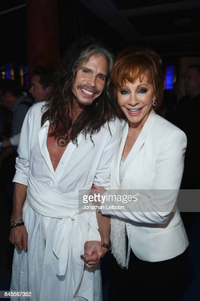 Steven Tyler and Reba McEntire attend the Closing Night Gala at Cinecittà as part of the 2017 Celebrity Fight Night in Italy Benefiting The Andrea...