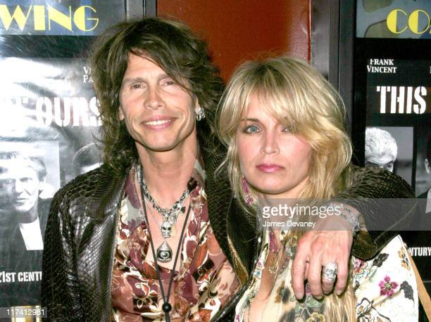 Steven Tyler and wife Teresa during 'This Thing Of Ours' New York Premiere at Village East Cinemas in New York City New York United States