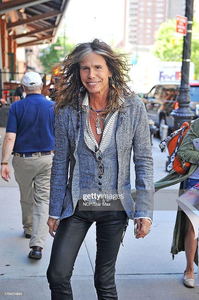 Steven Tyler as seen on June 12, 2013 in New York City.