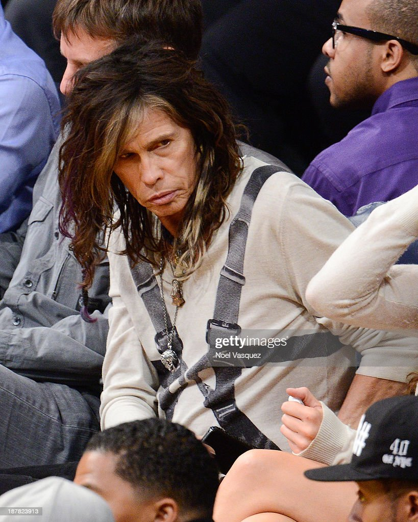 Steven Tyler attends a basketball game between the New Orleans Pelicans and the Los Angeles Lakers at Staples Center on November 12, 2013 in Los Angeles, California.