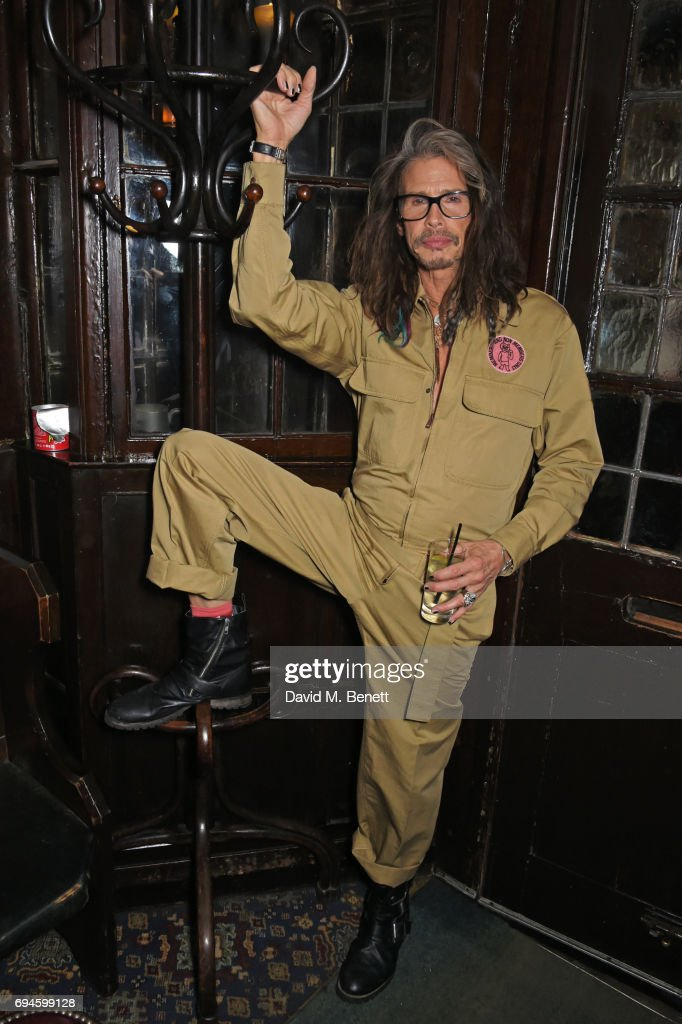 Steven Tyler attends a celebration of the Stella McCartney AW17 collection and film launch at Ye Olde Mitre on June 10, 2017 in London, England.