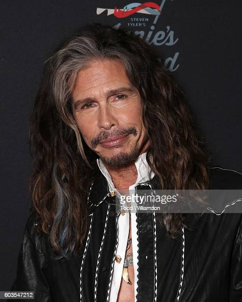 Steven Tyler attends a Janie's Fund Fundraiser at Cambria Gallery During TIFF on September 12 2016 in Toronto Canada