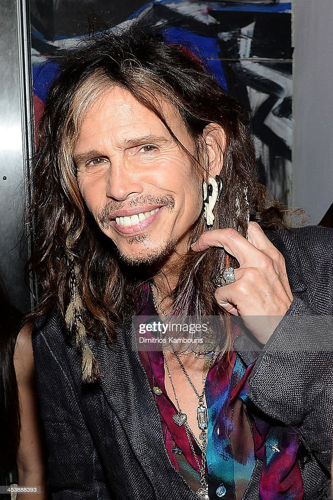 Steven Tyler attends Dom Perignon with Alex Dellal, Stavros Niarchos, and Vito Schnabel Present Dom Perignon Limited Edition by Jeff Koons at Wall at W Hotel on December 5, 2013 in Miami Beach, Florida.