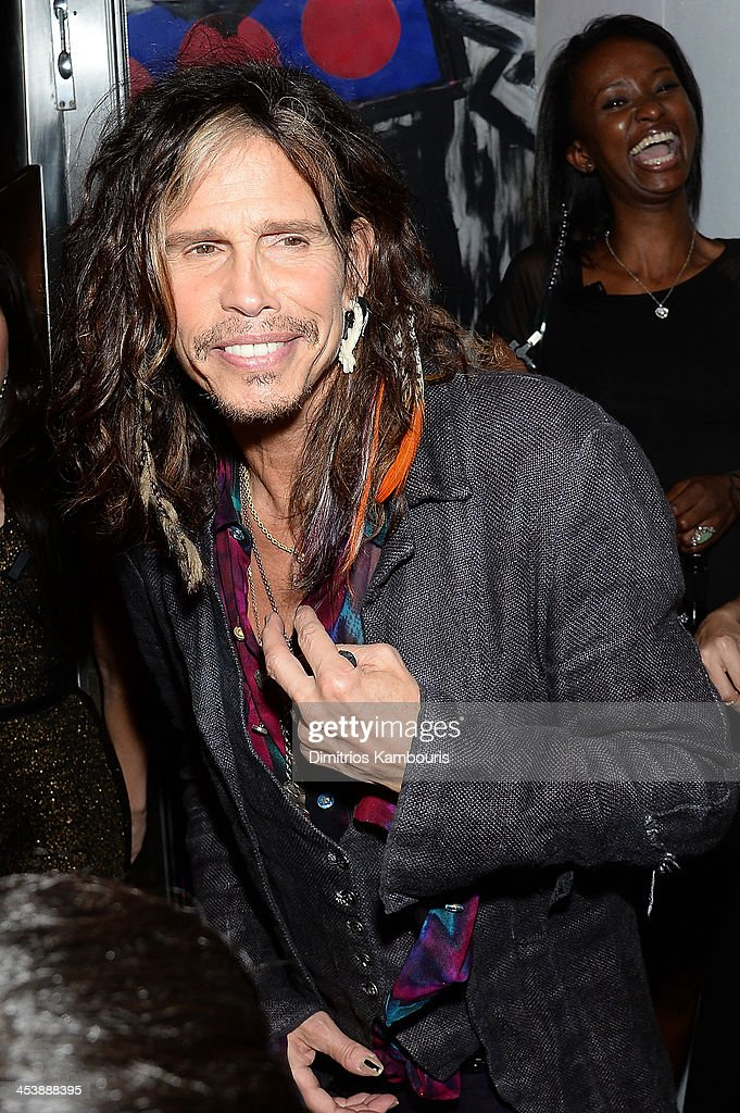 <a gi-track='captionPersonalityLinkClicked' href=/galleries/search?phrase=Steven+Tyler+-+Musician&family=editorial&specificpeople=202080 ng-click='$event.stopPropagation()'>Steven Tyler</a> attends Dom Perignon with Alex Dellal, Stavros Niarchos, and Vito Schnabel Present Dom Perignon Limited Edition by Jeff Koons at Wall at W Hotel on December 5, 2013 in Miami Beach, Florida.