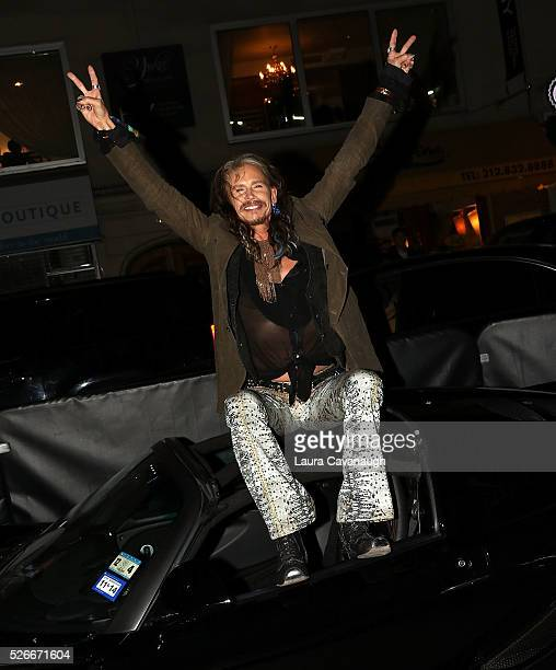Steven Tyler attends 'Steven TylerOut On A Limb' Kick Off Celebration at Lavo on April 30 2016 in New York City