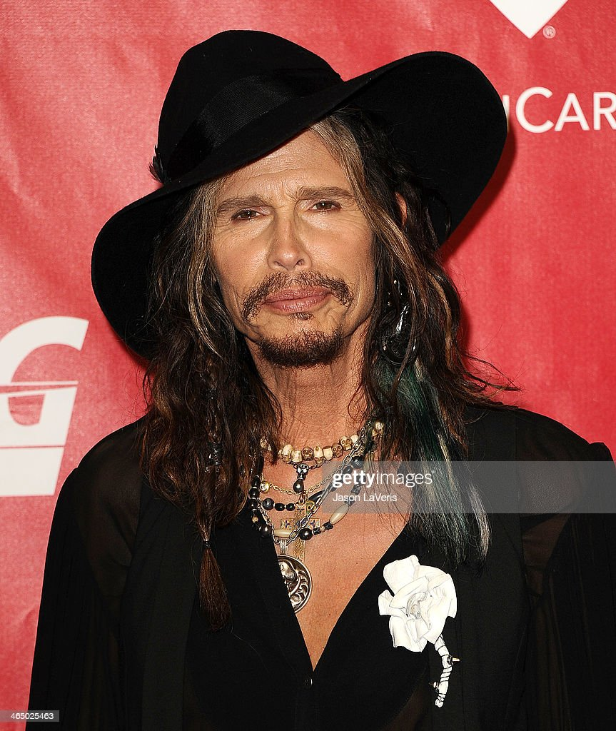 Steven Tyler attends the 2014 MusiCares Person of the Year honoring Carole King at Los Angeles Convention Center on January 24, 2014 in Los Angeles, California.
