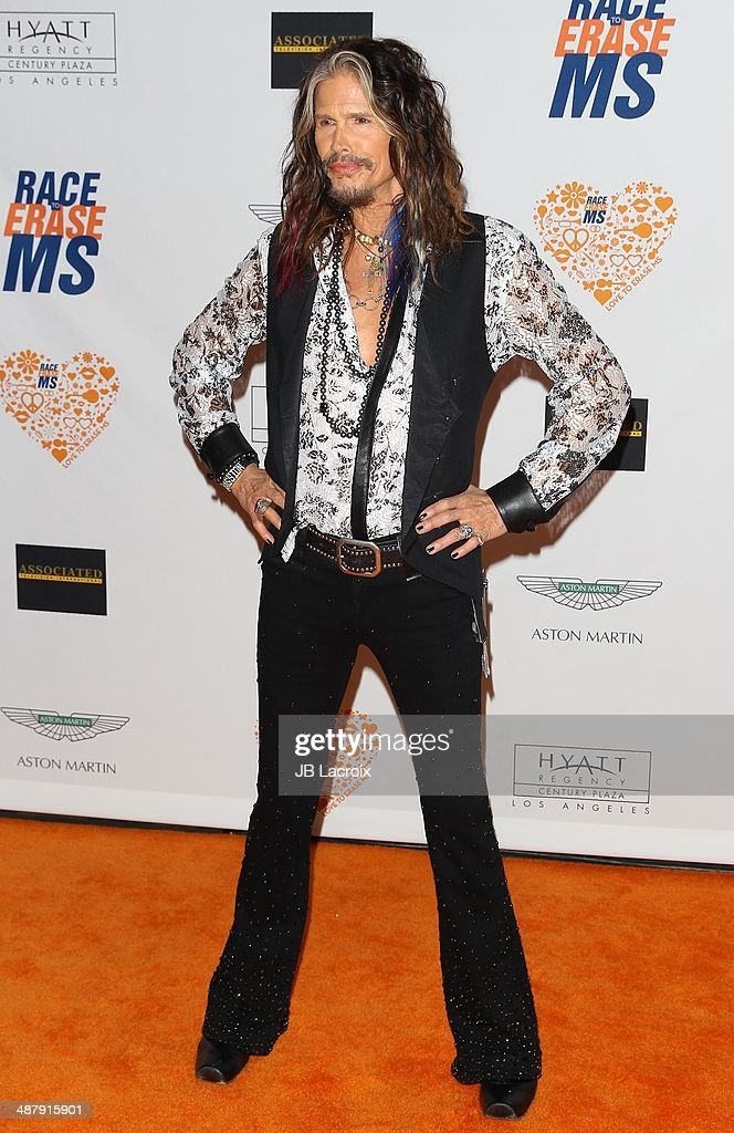 Steven Tyler attends the 21st Annual Race To Erase MS Gala held at the Hyatt Regency Century Plaza on May 2, 2014 in Century City, California.