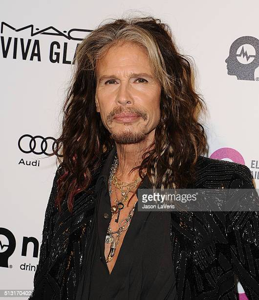 Steven Tyler attends the 24th annual Elton John AIDS Foundation's Oscar viewing party on February 28 2016 in West Hollywood California