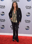 Steven Tyler attends the 48th annual CMA Awards at the Bridgestone Arena on November 5 2014 in Nashville Tennessee