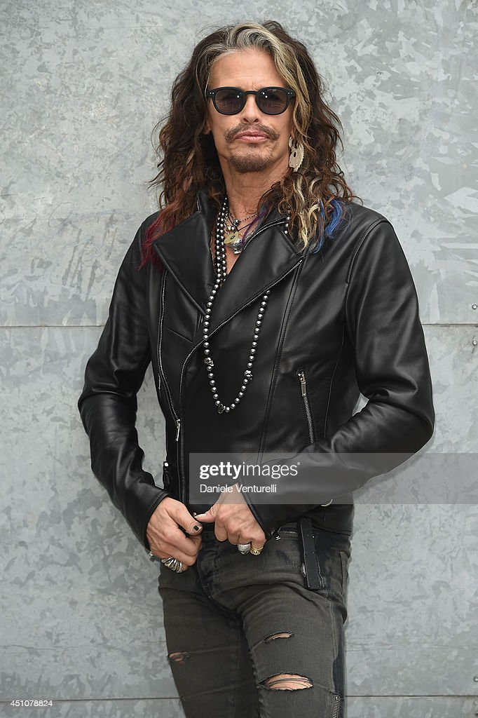 Steven Tyler attends the Emporio Armani show during Milan Menswear Fashion Week Spring Summer 2015 on June 23, 2014 in Milan, Italy.