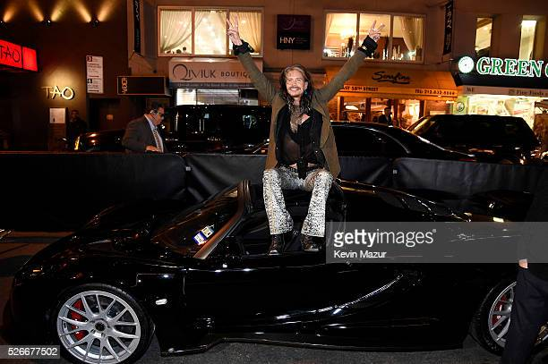 Steven Tyler Attends the preview of Steven Tyler's Hennessy Venom GT Spyder and Celebration of 'Steven TylerOut on a Limb' Show to Benefit 'Janie's...