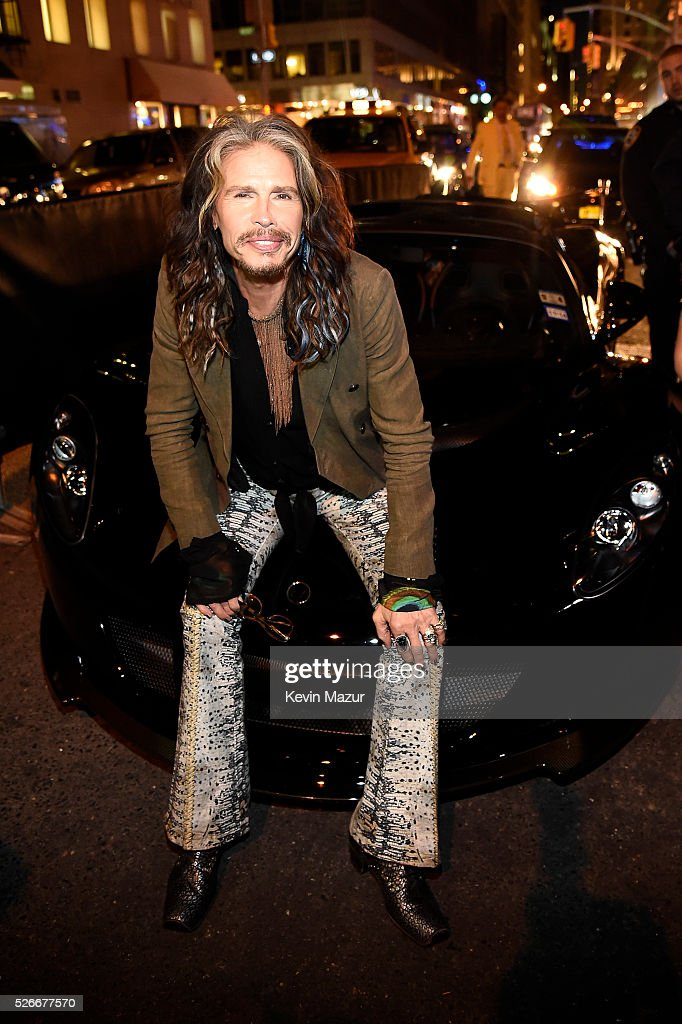 <a gi-track='captionPersonalityLinkClicked' href=/galleries/search?phrase=Steven+Tyler+-+Musician&family=editorial&specificpeople=202080 ng-click='$event.stopPropagation()'>Steven Tyler</a> Attends the preview of <a gi-track='captionPersonalityLinkClicked' href=/galleries/search?phrase=Steven+Tyler+-+Musician&family=editorial&specificpeople=202080 ng-click='$event.stopPropagation()'>Steven Tyler</a>'s Hennessy Venom GT Spyder and Celebration of '<a gi-track='captionPersonalityLinkClicked' href=/galleries/search?phrase=Steven+Tyler+-+Musician&family=editorial&specificpeople=202080 ng-click='$event.stopPropagation()'>Steven Tyler</a>...Out on a Limb' Show to Benefit 'Janie's Fund' in Collaboration with Youth Villages at Lavo on April 30, 2016 in New York City.