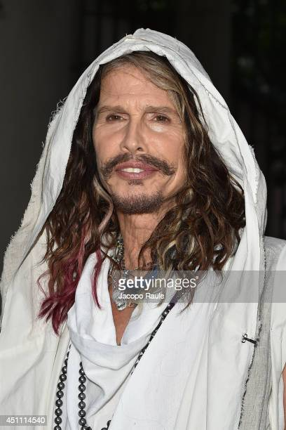 Steven Tyler attends the Stella McCartney Garden Party during the Milan Fashion Week Menswear Spring/Summer 2015 on June 23 2014 in Milan Italy