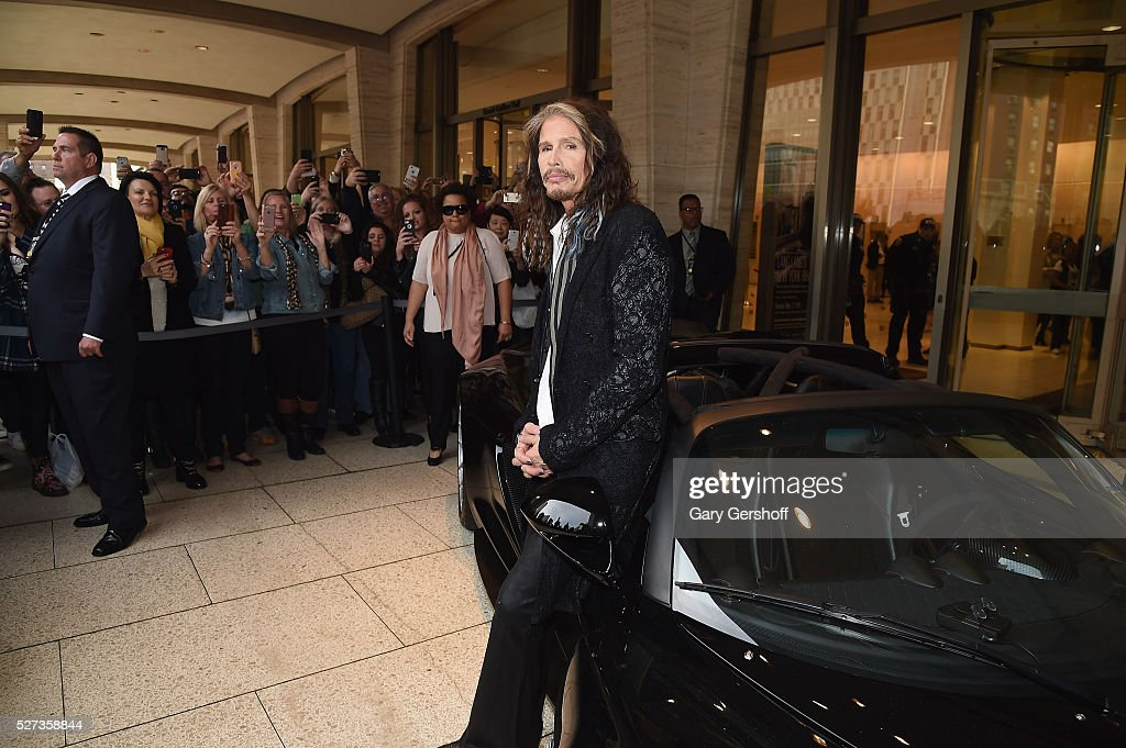 Steven Tyler attends the 'Steven Tyler...Out on a Limb' show to benefit Janie's Fund in collaboration with Youth Villages at David Geffen Hall on May 2, 2016 in New York City.