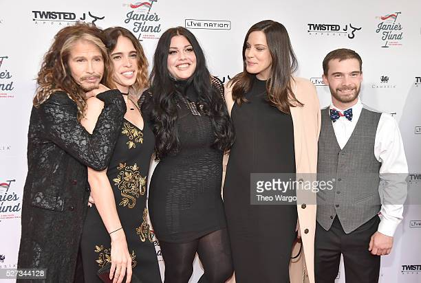 Steven Tyler Chelsea Tyler Mia Tyler Liv Tyler and Taj Tallarico attend 'Steven TylerOut on a Limb' Show to Benefit Janie's Fund in Collaboration...