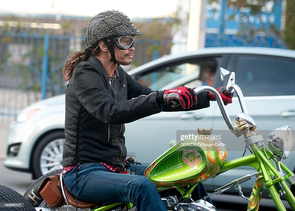 Steven Tyler is seen on January 18, 2014 in Los Angeles, California.