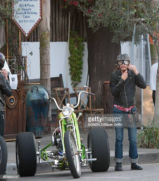 Steven Tyler is seen on January 18 2014 in Los Angeles California