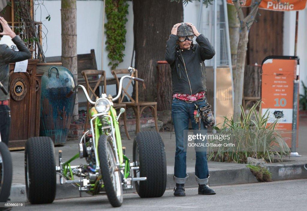 Steven Tyler is seen on January 18, 2014 in Los Angeles, California.