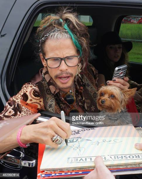 Steven Tyler is seen on July 19 2014 in Boston Massachusetts