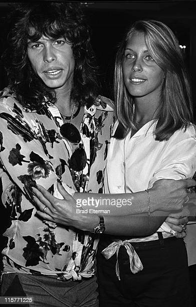 Steven Tyler of Aerosmith and Sandy Farina at the 'Sgt Pepper' movie party at the Beverly Hilton Hotel in Beverly Hills California 1978