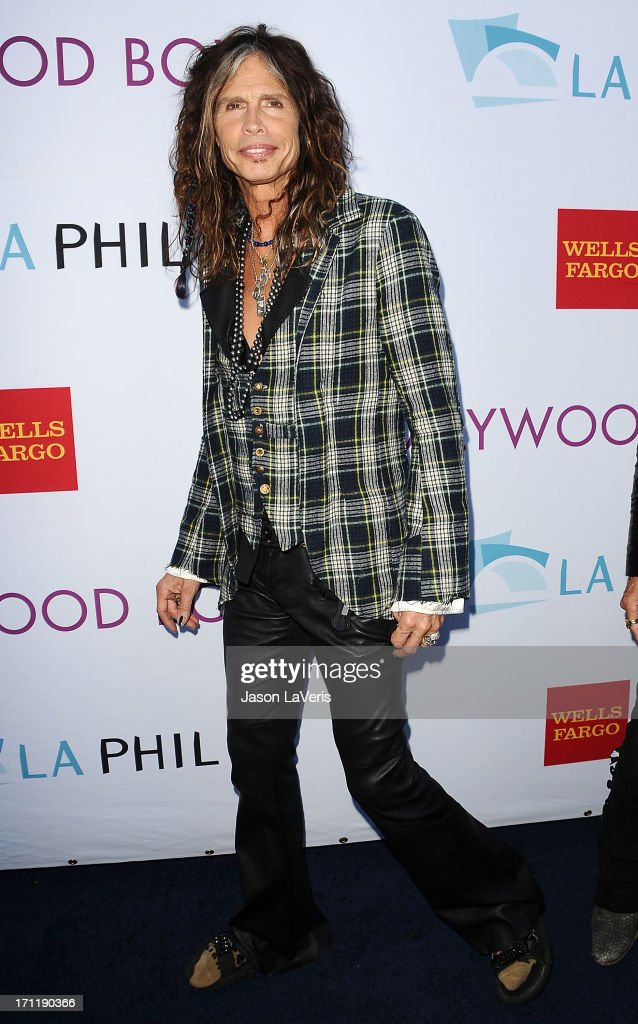 <a gi-track='captionPersonalityLinkClicked' href=/galleries/search?phrase=Steven+Tyler+-+Musician&family=editorial&specificpeople=202080 ng-click='$event.stopPropagation()'>Steven Tyler</a> of Aerosmith attends the Hollywood Bowl opening night celebration at The Hollywood Bowl on June 22, 2013 in Los Angeles, California.