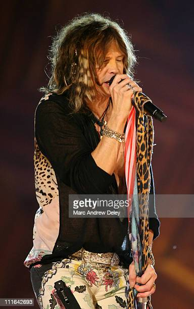Steven Tyler of Aerosmith during Boston POPS Fireworks Spectular Featuring Steven Tyler and Joe Perry of Aerosmith July 4 2006 at Hatch Shell on...
