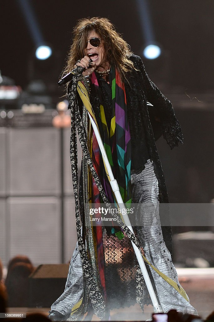 <a gi-track='captionPersonalityLinkClicked' href=/galleries/search?phrase=Steven+Tyler+-+Musician&family=editorial&specificpeople=202080 ng-click='$event.stopPropagation()'>Steven Tyler</a> of Aerosmith performs at BB&T Center on December 9, 2012 in Sunrise, Florida.