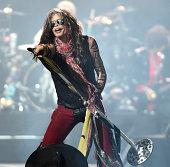 Steven Tyler of Aerosmith performs at Prudential Center on September 3 2014 in Newark New Jersey