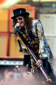 Steven Tyler of Aerosmith performs on Day 1 of the Calling Festival at Clapham Common on June 28 2014 in London England