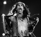 Steven Tyler of Aerosmith performs on stage at Ahoy Rotterdam Netherlands 1st November 1993