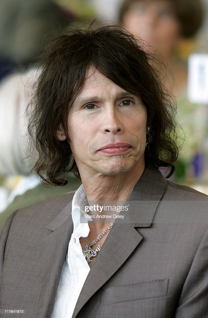 <a gi-track='captionPersonalityLinkClicked' href=/galleries/search?phrase=Steven+Tyler+-+Musician&family=editorial&specificpeople=202080 ng-click='$event.stopPropagation()'>Steven Tyler</a> of <a gi-track='captionPersonalityLinkClicked' href=/galleries/search?phrase=Aerosmith&family=editorial&specificpeople=640712 ng-click='$event.stopPropagation()'>Aerosmith</a> receives an honorary degree, Doctor of Humane Letters, during the University of Massachusetts Boston 2005 Commencement Ceremony held on June 3, 2005.