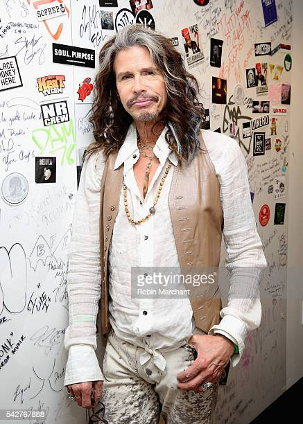 Steven Tyler of Aerosmith visits at SiriusXM Studio on June 24 2016 in New York City