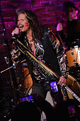 Steven Tyler performs during the Big Machine Label Group CRS Bash with Steven Tyler A Thousand Horses The Cadillac Three and Drake White at aVenue on...