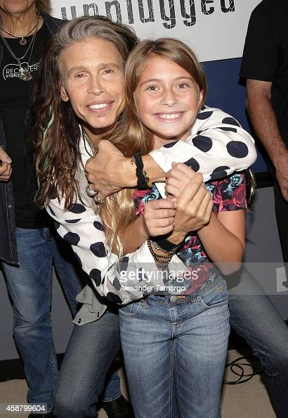 Steven Tyler poses with a guest at Recovery Unplugged where Steven Tyler performed and spoke with clients of Recovery Unplugged Treatment Center to...
