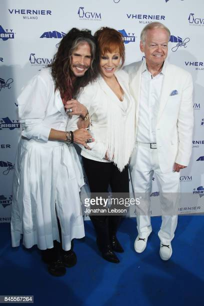 Steven Tyler Reba McEntire and Jimmy Walker attend the Closing Night Gala at Cinecittà as part of the 2017 Celebrity Fight Night in Italy Benefiting...