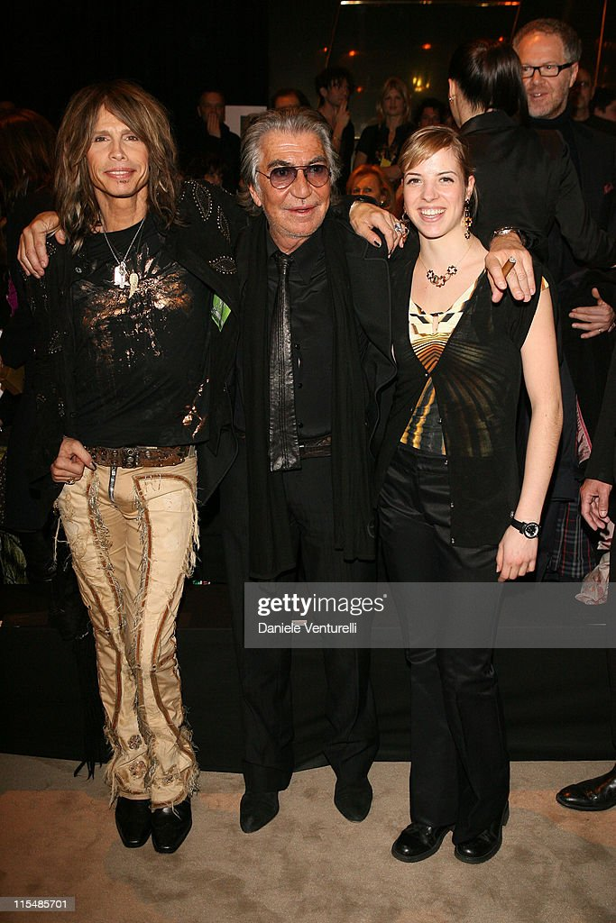 <a gi-track='captionPersonalityLinkClicked' href=/galleries/search?phrase=Steven+Tyler+-+Musician&family=editorial&specificpeople=202080 ng-click='$event.stopPropagation()'>Steven Tyler</a>, Roberto Cavalli and <a gi-track='captionPersonalityLinkClicked' href=/galleries/search?phrase=Carolina+Kostner&family=editorial&specificpeople=729836 ng-click='$event.stopPropagation()'>Carolina Kostner</a>
