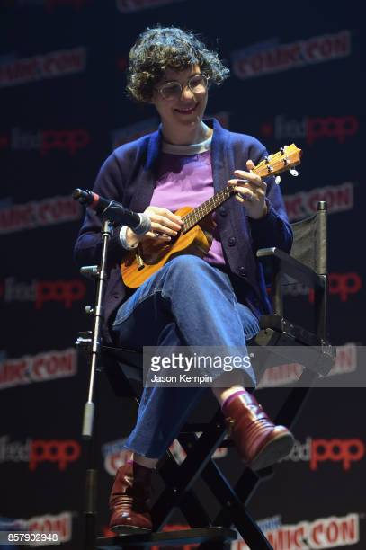 Steven Universe creator voice actor and author Rebecca Sugar speaks onstage at the Steven Universe Panel during New York Comic Con 2017 JK at...