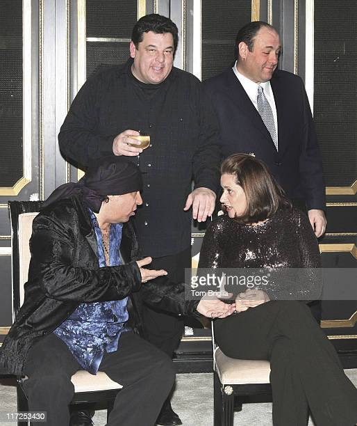 Steven Van Zandt and Lorraine Bracco Steve Schirripa and James Gandolfini