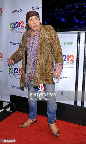 Steven Van Zandt attends 121212 the Concert for Sandy Relief at Madison Square Garden on December 12 2012 in New York City