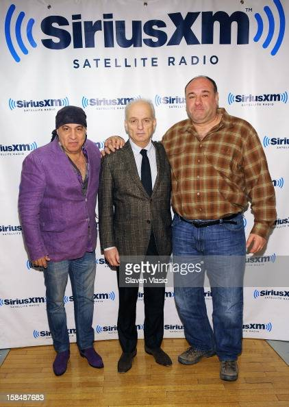 Steven Van Zandt David Chase and James Gandolfini attend SiriusXM 'Not Fade Away' Town Hall with David Chase James Gandolfini and Steven Van Zandt...