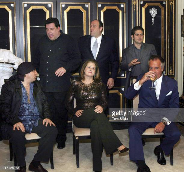 Steven Van Zandt Lorraine Bracco and Tony Sirico Steve Schirripa James Gandolfini and Michael Imperioli