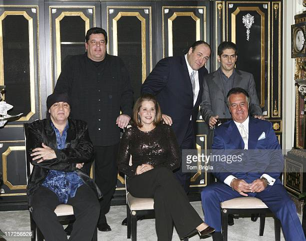 Steven Van Zandt Lorraine Bracco and Tony Sirico Steve Schirripa James Gandolfini and Michael Imperioli