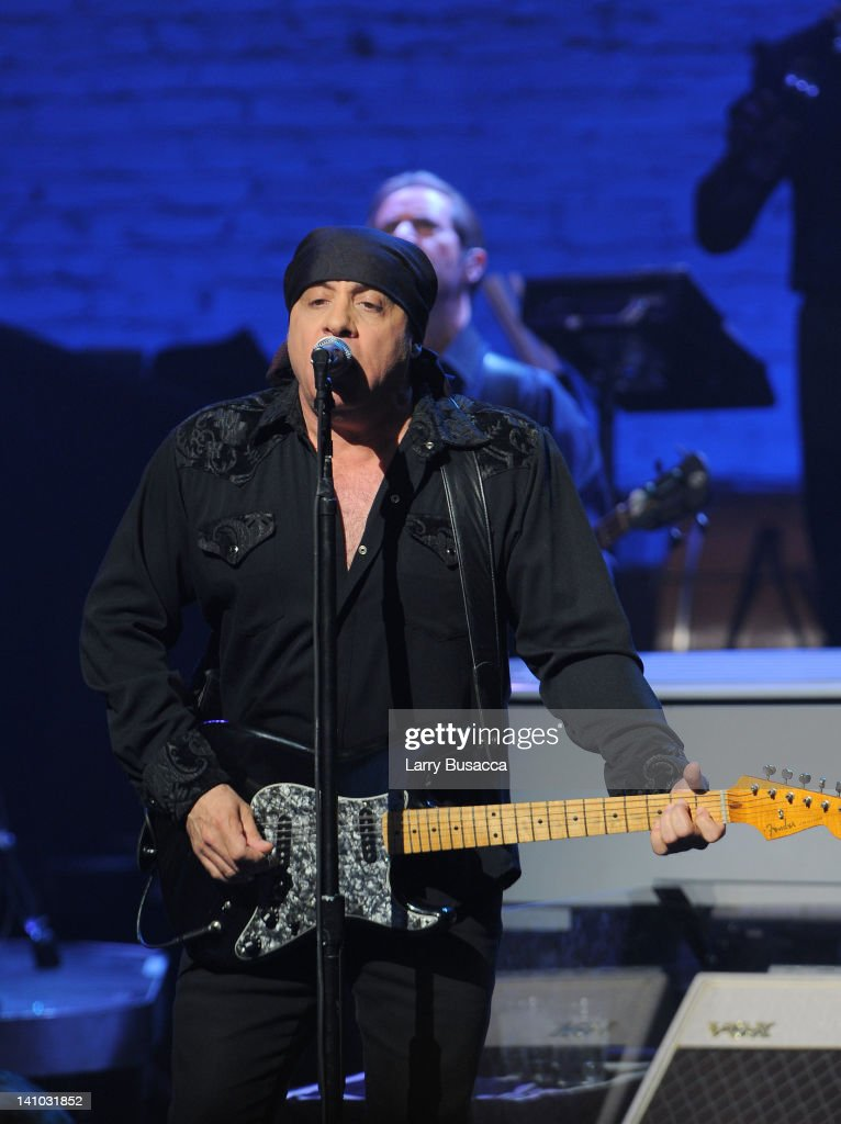 <a gi-track='captionPersonalityLinkClicked' href=/galleries/search?phrase=Steven+Van+Zandt&family=editorial&specificpeople=206354 ng-click='$event.stopPropagation()'>Steven Van Zandt</a> performs during SiriusXM's concert celebrating 10 years of satellite radio at The Apollo Theater on March 9, 2012 in New York City.